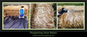 prepping bales