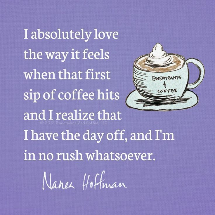 It's the First Day in Many When We Don't Need to Celebrate ... #coffeeAddict